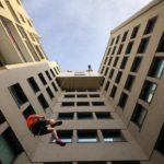 Descente en rappel sur bâtiments et immeubles