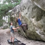 cours d'escalade blocs à Fontainebleau