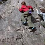 cours d'escalade blocs à Fontainebleau enfants