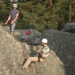 moniteur escalade Fontainebleau