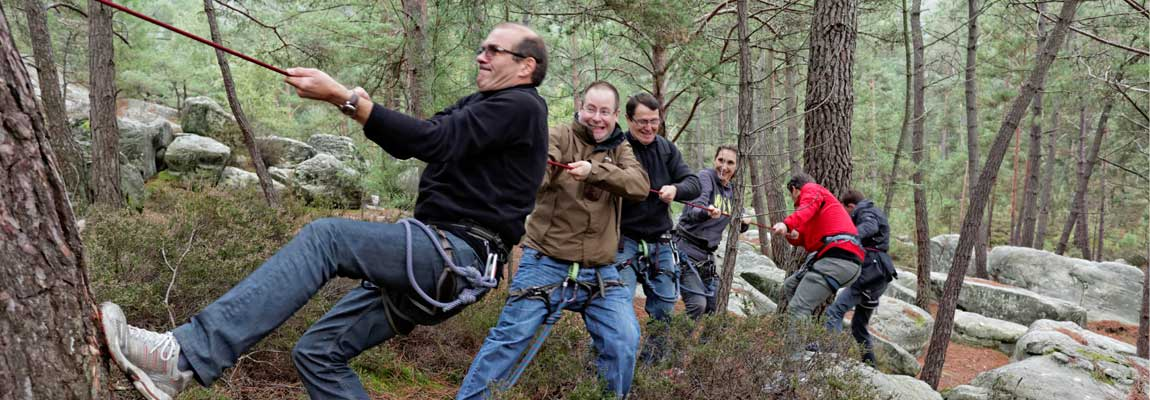 """""""Esprit de cordée"""" Team building aventure et nature - Paris, Meudon, Fontainebleau"""