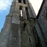 Descente en rappel, tyrolienne, pont de singe, slackline sur bâtiments et clocher