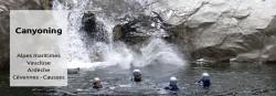 Canyoning Alpes maritimes, Verdon, Vaucluse, Ardèche, Cévennes