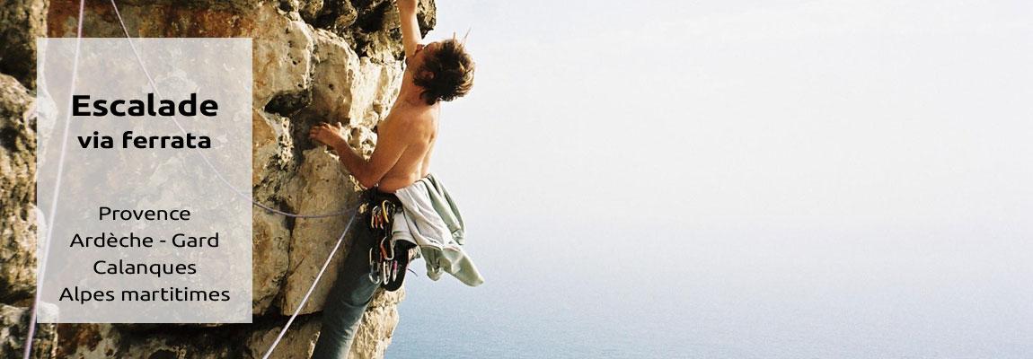 escalade et via ferrata - Dentelles de Montmirail, Ardèche, Calanques, Alpes maritimes