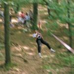 Tyrolienne - grimpe d'arbres, accrobranche - forêts d'Île-de-France