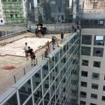 Descente en rappel, tyrolienne, pont de singe, slackline sur bâtiments et immeubles